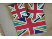 NEXT 100% Wool Union Jack Rug and Scatter Cushions