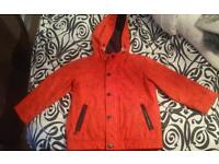 Boys star coat, jeans, wellies and hat age 3/4 years old and size 8 wellies