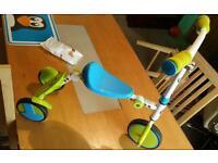 Zinc roller 2 in 1 trike/scooter