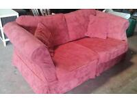 Red Sofa bed with removable covers