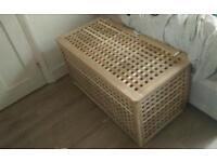 Wooden storage trunk