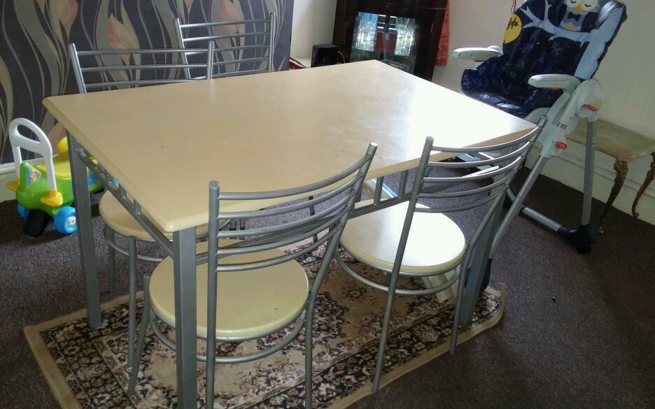 Dining table and four chairs in Stoke on Trent  : 86 from www.gumtree.com size 936 x 585 jpeg 78kB