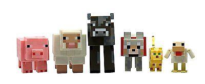 Minecraft Overworld Animal Mobs Action Figure Toy Set 6 - Pack Jazwares