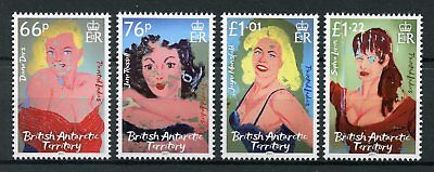 British Antarctic Ter BAT 2017 MNH Painted Ladies Sophia Loren 4v Set Stamps