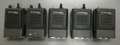 Lot Of 5 Motorola Genesis Mt1000 Two-way Portable Radios Low Band Vhf 6 Watts