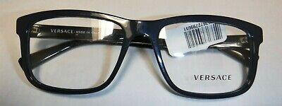 VERSACE 0VE3253 5230 BLACK/BLUE FRAME, SIZE 55MM Demo glasses Authentic New