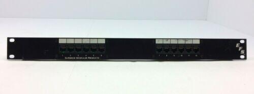 EFS Communication Circuit Accessory Panel 12 Port Rack Mount Punch Panel