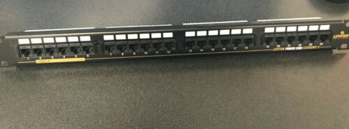 USED LEVITON Power Sum 24-PORT CAT-5  PATCH PANEL, (USED) Great Shape