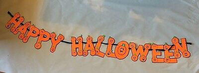 Happy Halloween Party Banner Decoration Pumpkins Orange Children Classroom (Halloween Classroom Decorations)
