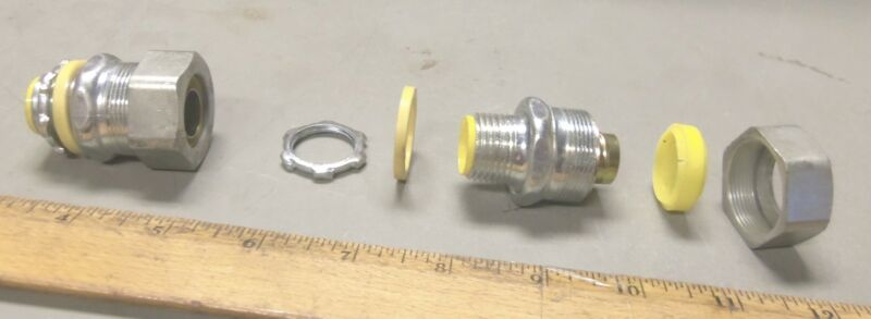 "Lot of 2 - 1/2"" Adapter Fittings (NOS)"