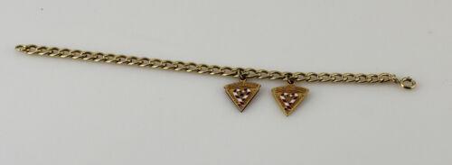 1/20 12K GF Gold Filled Figure 8 Chain Bracelet w/ GF Mennonite Hospital Charms