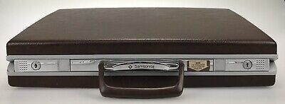 "Vintage 18"" Samsonite Classic 100 Brown Slimline Hard Shell Briefcase NO KEYS"