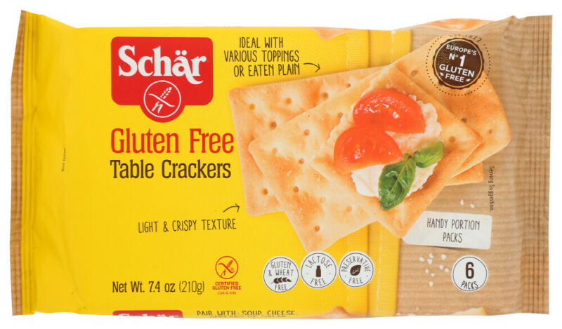 Schär Gluten Free Table Crackers  (Pack of 5,  7.4 OZ Packages)