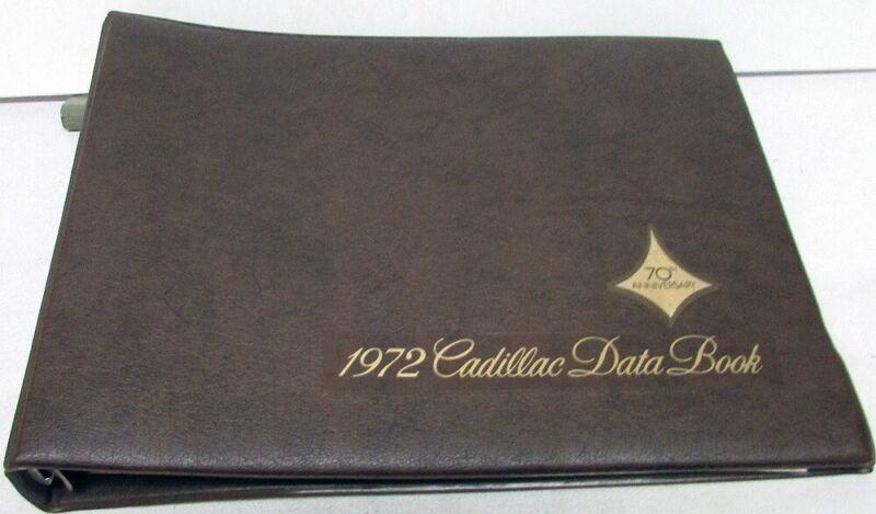 1972 Cadillac Dealer Data Book Sales Reference Guide Calais De Ville Fleetwood