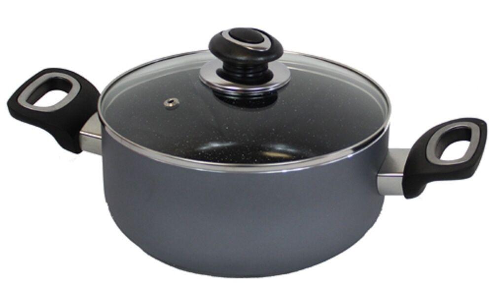 Bratmaxx Aluminium Kochtopf Ø24cm Topf mit Keramikbeschichtung #6751