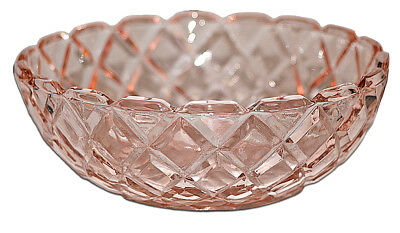 Hocking Waterford Pink Depression Small Berry Bowl