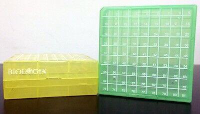 Freezer Storage Box 81 Spot Microfuge Cryotube Vials Cryogenic Tube