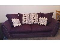 FREE purple 3 seater sofa