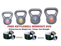 Kettlebell Set. 2-4-6-8 kG Kettlebell Set With Free Workout DVD