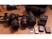 Nikon D5300 Digital SLR Camera with selection of quality lenses and accessories - flash not working