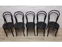 Five Over Painted Bentwood Chairs (DELIVERY AVAILABLE)