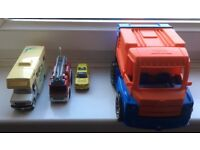 Assorted truck toys