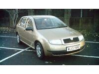 Skoda Fabia 2002 reg, 5 door hatchback 1.4 petrol *LOW MILEAGE* *2KEYS* *LONG MOT*