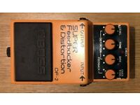 BOSS DF-2 SUPER FEEDBACKER & DISTORTION pedal, Very Good