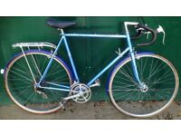 60cm Classic Peugeot Bicycle racing race road bike with mudguard and rack
