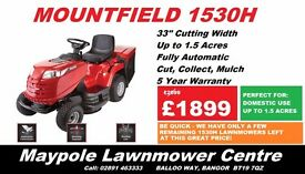 "(SALE PRICE!!!) *NEW* Mountfield 1530H Ride On Lawnmower - 33"" Cut, 5 Year Warranty"