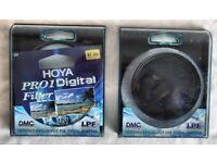Hoya Pro 1 Circular Polarising filter Plus Hoya Pro 1 UV filter both 67mm.