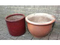 2 x Garden Plant Flower Pots / Planters