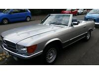 Mercedes 500Sl classic car Hard and soft top