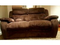 2 seater IMMACULATE electric recliner corduroy sofa DELIVERY INCLUDED