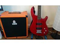 Electric Bass + Orange Amp