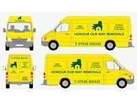Honour our way removals. Man with a van