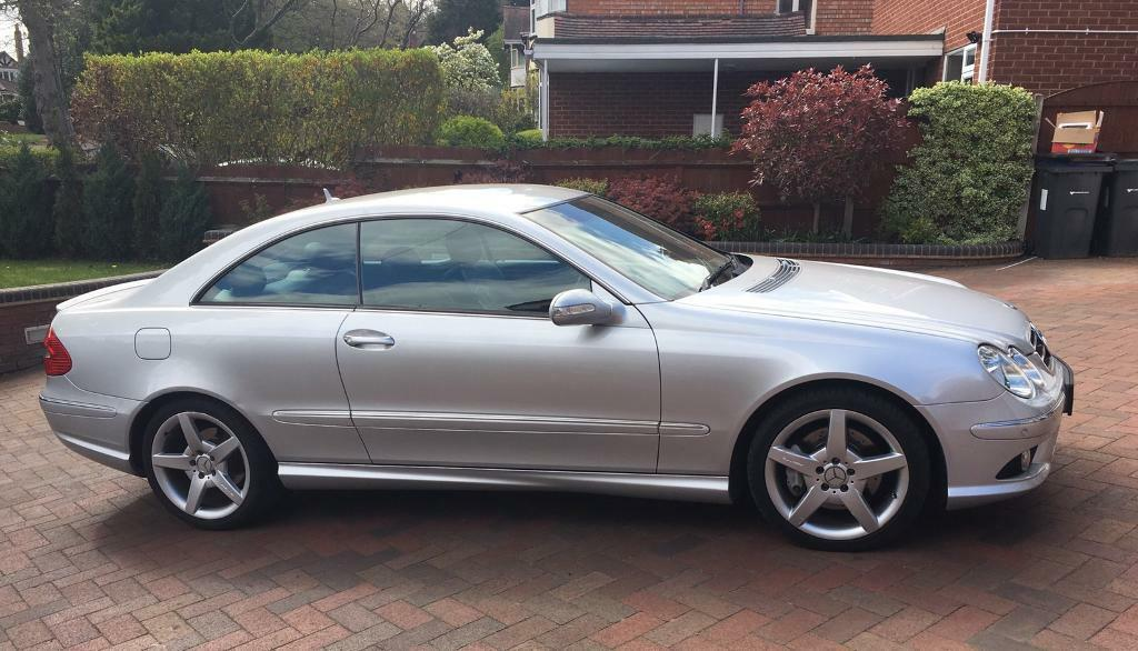 2007 57 mercedes clk 220 cdi amg sport coupe diesel automatic met silver fmbsh in west. Black Bedroom Furniture Sets. Home Design Ideas
