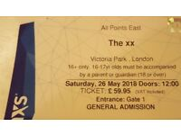 THE XX TICKET FOR SALE LONDON