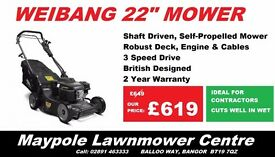 New WEIBANG *Ideal for Professional Gardeners* - Great Quality Lawnmower, *3 Yr Commercial Warranty*