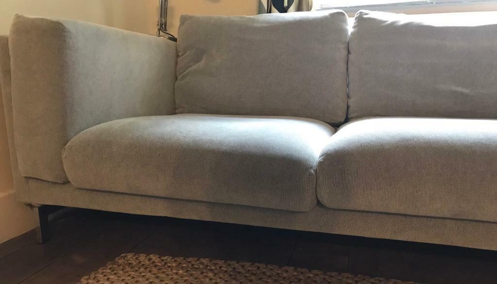 Ikea Nockeby 3 Seat Sofa With Left Hand Chaise Longue In Horsham