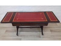 Leather Topped Drop Leaf Coffee Table (DELIVERY AVAILABLE FOR THIS ITEM OF FURNITURE)