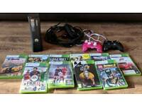 Xbox 360, 2 controllers, 10 games, hd cable