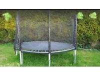Trampoline 12ft with enclosure. Dismantled ready. Used condition. Not New