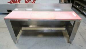 Stainless Steel 6ft Kitchen Prep Table W/ Cutting Board