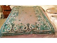 Beautiful Designer Sari with pearls , gemstones and hand crafted- with 2 blouses -£100 ono