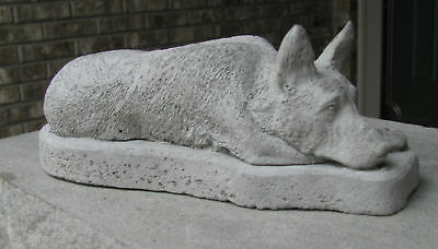 Concrete German Shepherd Statue Or Use As A Memorial    Grave Marker