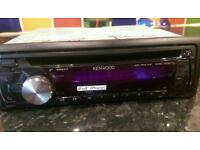 Kenwood car stereo with iPod/iPhone/AUX compatibility