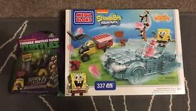 NEW: Mega block SpongeBob: Invisible Boatmobile Rescue +Turtles