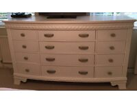 Chest of drawers and two nightstands as set