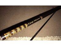 Set of 2 x Mint - FOX CARP MASTER 12ft 2.5lb Carp Fishing Rod Carping Rod